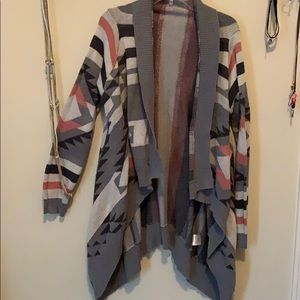 Patterned Long Cardigan